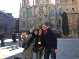 The start of our tour at the Barcelona Cathedral