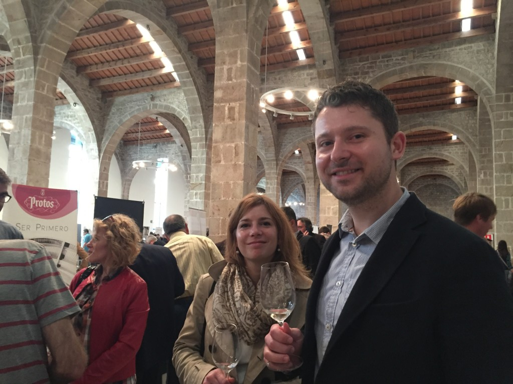 Paul and Benedicte of Lazenne toured around the event with Timmer earlier in the day.